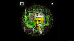 vj video background Albert-Einstein-Smoke-Motion-Face-Head-Mask-Vj-Loop_003