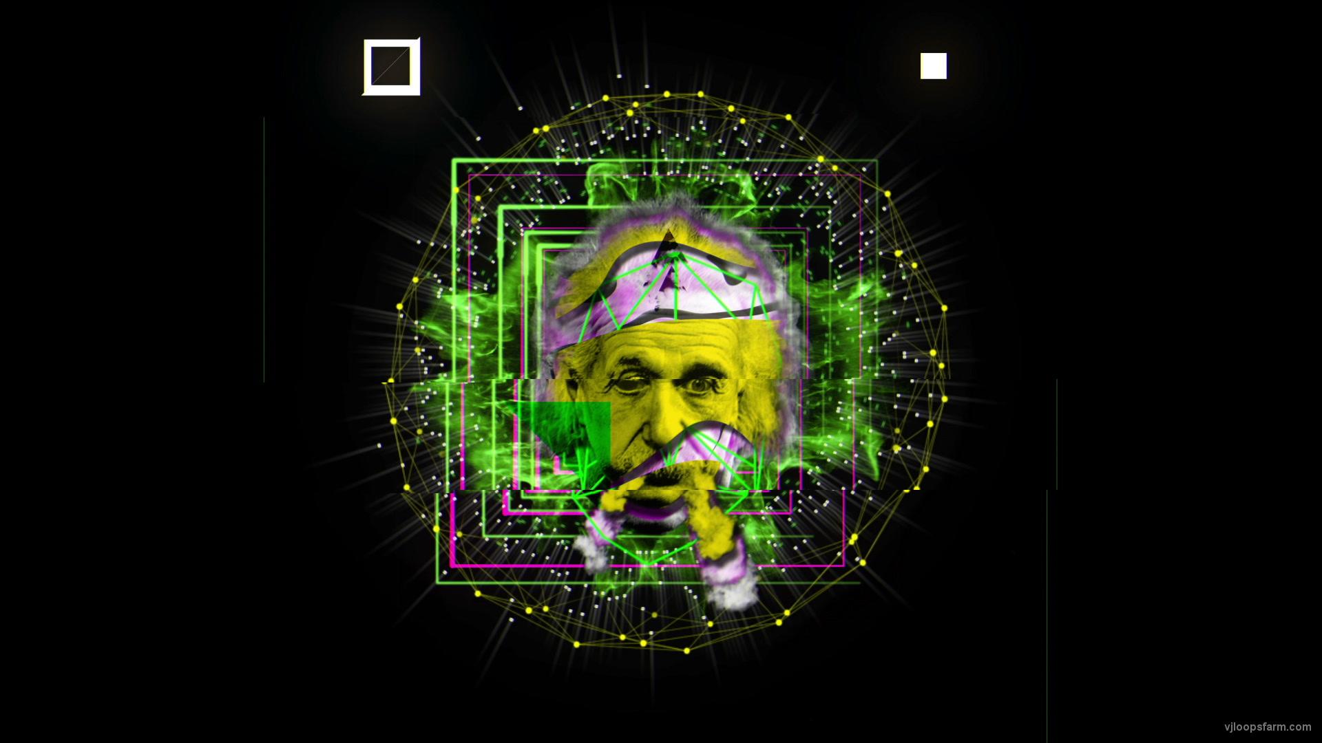 vj video background Albert-Einstein-Smoke-Motion-Face-Head-Mask-Vj-Loop_003