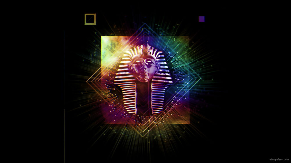 vj video background Blinking-Pharaoh-animation-effect-on-black-motion-background-vj-loop_003