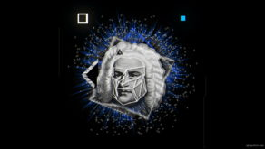 vj video background Blue-Sebastian-Bach-Face-mask-motion-graphics-vj-dj-art-vj-loop_003