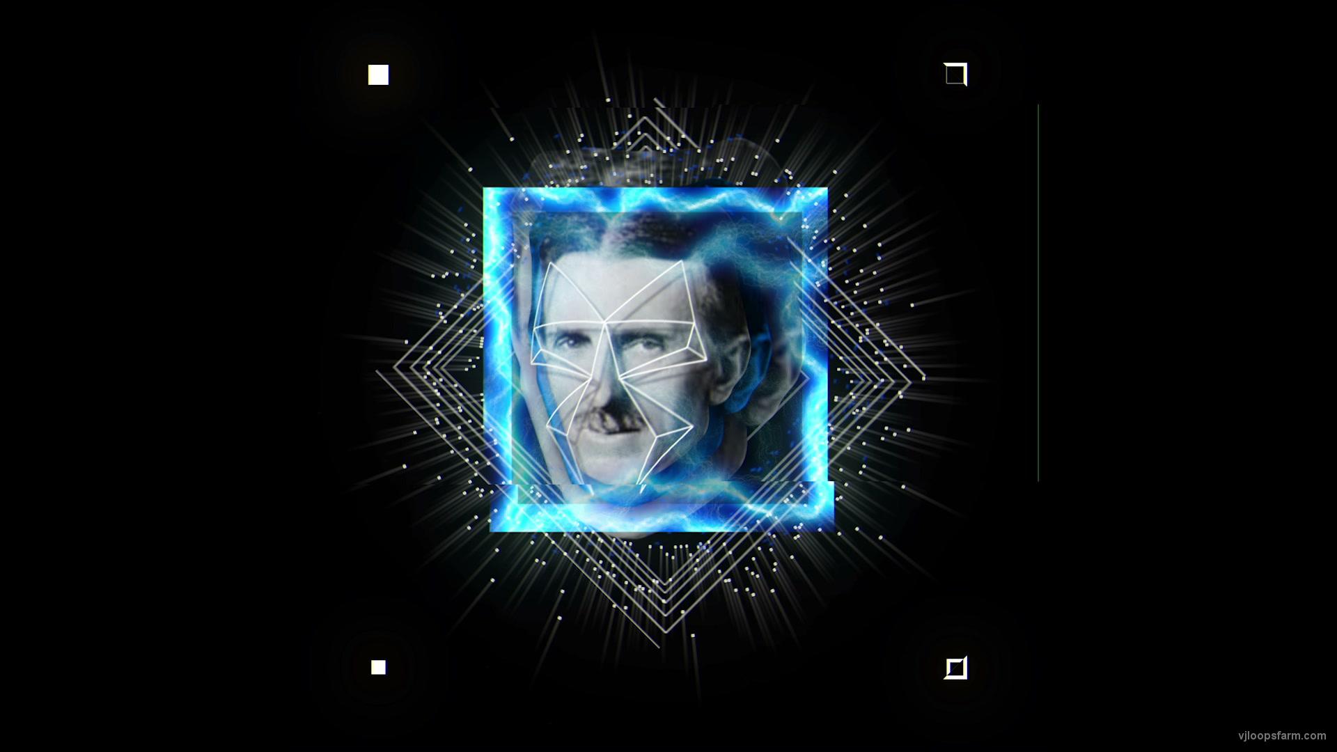 vj video background Blue-Tesla-Face-mask-motion-graphics-vj-dj-art-vj-loop_003