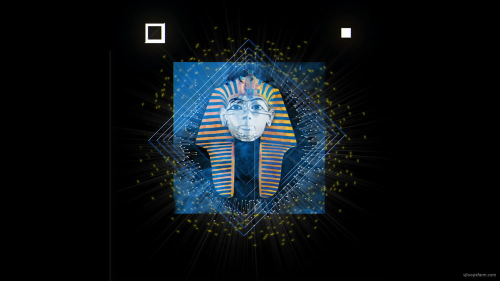 vj video background Mottled-Pharaoh-sphinx-animation-effect-on-black-motion-background-vj-loop_003
