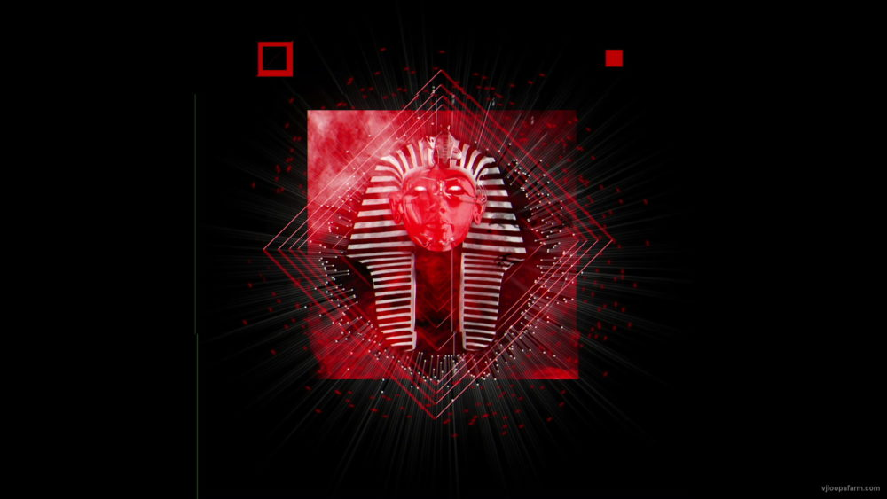 vj video background Red-Pharaon-animation-effect-on-black-motion-background-vj-loop_003