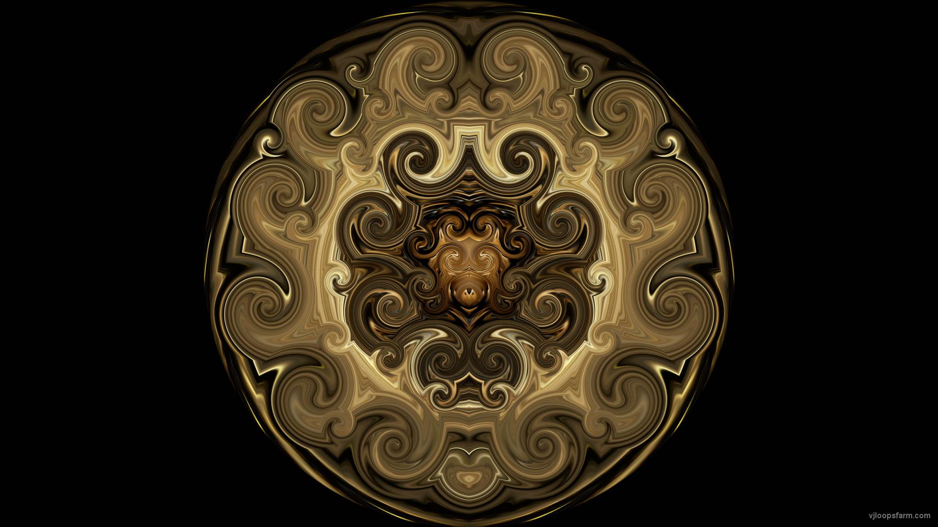vj video background Twirl-Golden-Sun-Fulldome-Projection-Vj-Loop-Art-Visuals_003
