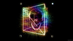 vj video background kaleidoscopic-Skull-in-a-cuboid-animation-effect-on-black-motion-background-vj-loop_003