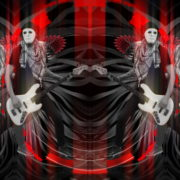 Bass-man-Guitarist-in-white-mask-play-guitar-bass-pixel-sorted-evil-Vj-Loop_001 VJ Loops Farm
