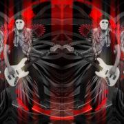 Bass-man-Guitarist-in-white-mask-play-guitar-bass-pixel-sorted-evil-Vj-Loop_001 VJ Loops Farm