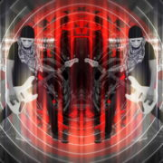Bass-man-Guitarist-in-white-mask-play-guitar-bass-pixel-sorted-evil-Vj-Loop_004 VJ Loops Farm