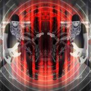 Bass-man-Guitarist-in-white-mask-play-guitar-bass-pixel-sorted-evil-Vj-Loop_004 VJ Loops Farm