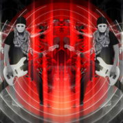 Bass-man-Guitarist-in-white-mask-play-guitar-bass-pixel-sorted-evil-Vj-Loop_006 VJ Loops Farm