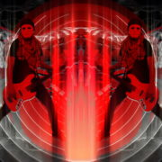Bass-man-Guitarist-in-white-mask-play-guitar-bass-pixel-sorted-evil-Vj-Loop_007 VJ Loops Farm