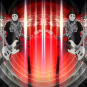 Bass-man-Guitarist-in-white-mask-play-guitar-bass-pixel-sorted-evil-Vj-Loop_008 VJ Loops Farm