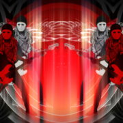 Bass-man-Guitarist-in-white-mask-play-guitar-bass-pixel-sorted-evil-Vj-Loop_009 VJ Loops Farm