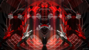vj video background Bass-man-Rave-in-white-mask-play-guitar-on-green-screen_003
