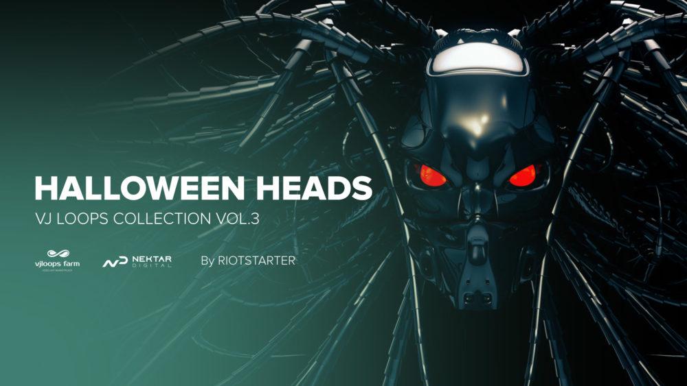 Halloweeen heads video vj loops