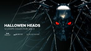 Halloweeen heads video vj loops
