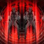 vj video background Horn-Evil-Red-Mask-Girl-Vj-Loop_003