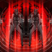 vj video background Horn-Evil-Red-Mask-Girl-Vj-Loop_003