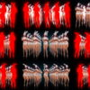 Multiple-sexy-female-disco-gogo-dancer-in-rabbit-costume-hops-on-black-and-red-background-LIMEART-VJ-Loop VJ Loops Farm
