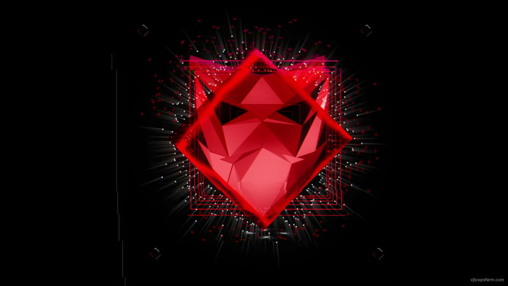 vj video background Red-Polymask-animation-effect-on-black-motion-background-vj-loop_003