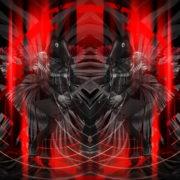 Rock-Horse-man-Guitarist-in-Head-mask-play-guitar-pixel-sorted-evil-4K-Vj-Loop_001 VJ Loops Farm