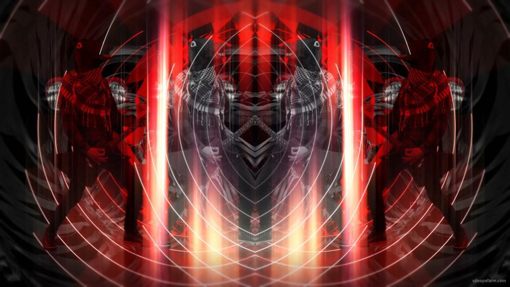 vj video background Rock-Horse-man-Guitarist-in-Head-mask-play-guitar-pixel-sorted-evil-4K-Vj-Loop_003