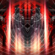 vj video background Rock-Horse-man-Guitarist-in-Head-mask-play-guitar-pixel-sorted-evil-4K-Vj-Loop_003