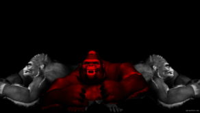 vj video background Three-3D-Gorilla-Smash-on-black-background-VJ-Loop-LIMEART_003