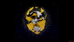vj video background Yellow-ape-Charles-Darvin-Mask-Face-motion-graphics-vj-loop_003