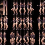 Dancig-GO-GO-Girls-over-black-motion-backgroun-stock-footage-video-art-vj-loop VJ Loops Farm