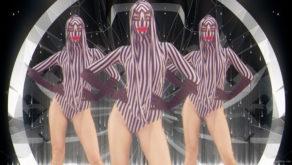 vj video background Rave-Green-Circle-Girls-EDM-decoration-wall-Video-Art-Vj-Loop_003