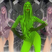 Rave-Green-Circle-Girls-EDM-decoration-wall-Video-Art-Vj-Loop_007 VJ Loops Farm