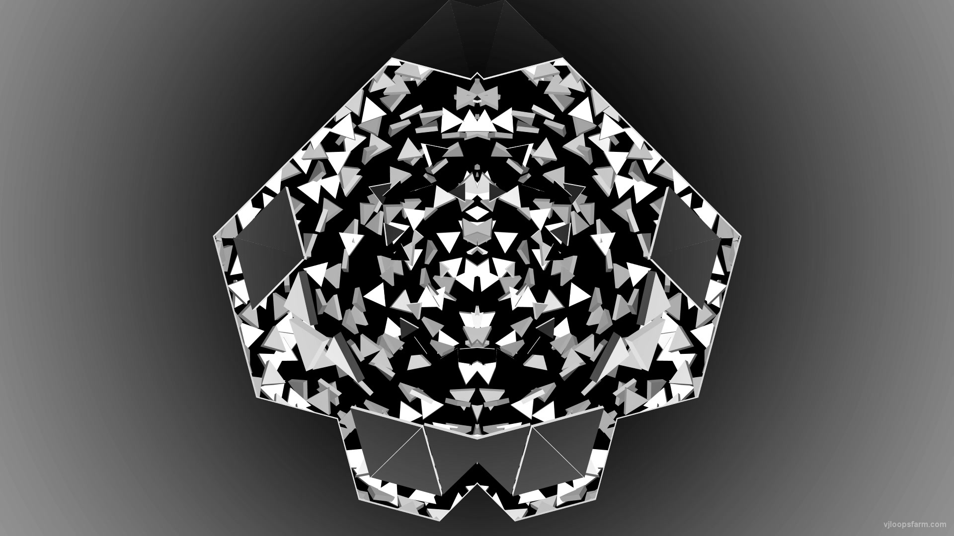 vj video background Black-and-White-Triangles-Gate-portal-destruction-video-loop-transition_003