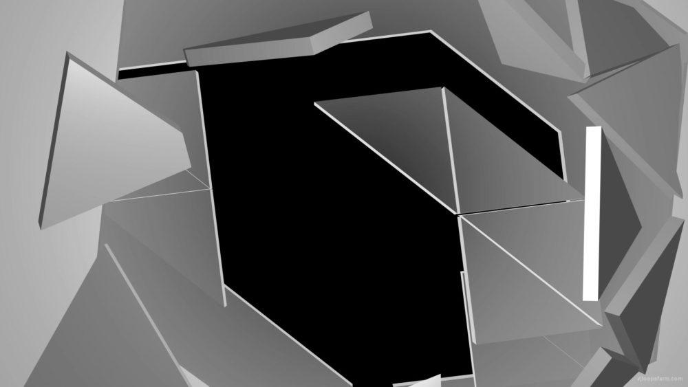 Broken-Glass-falling-segments-shatter-3D-displace-Video-Mapping-Footage_005 VJ Loops Farm