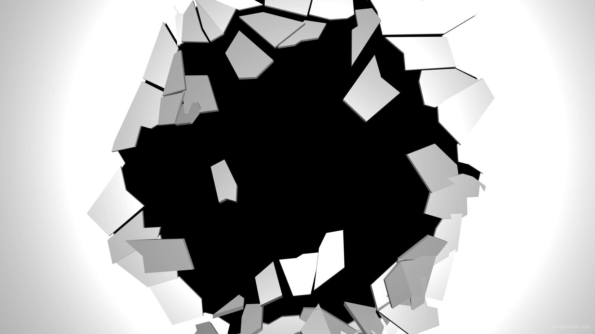 Crash Window Glass Fall desctuction impact visuals vj loop transition video    Download at VJ Loops Farm