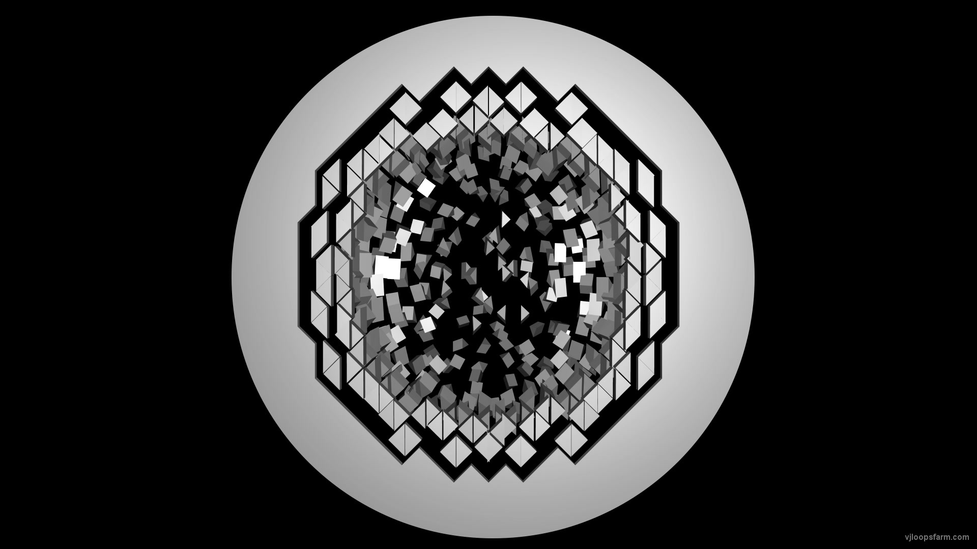 Displace Ring Circle 3D Effect Projection Mapping Video Loop   Download at  VJ Loops Farm