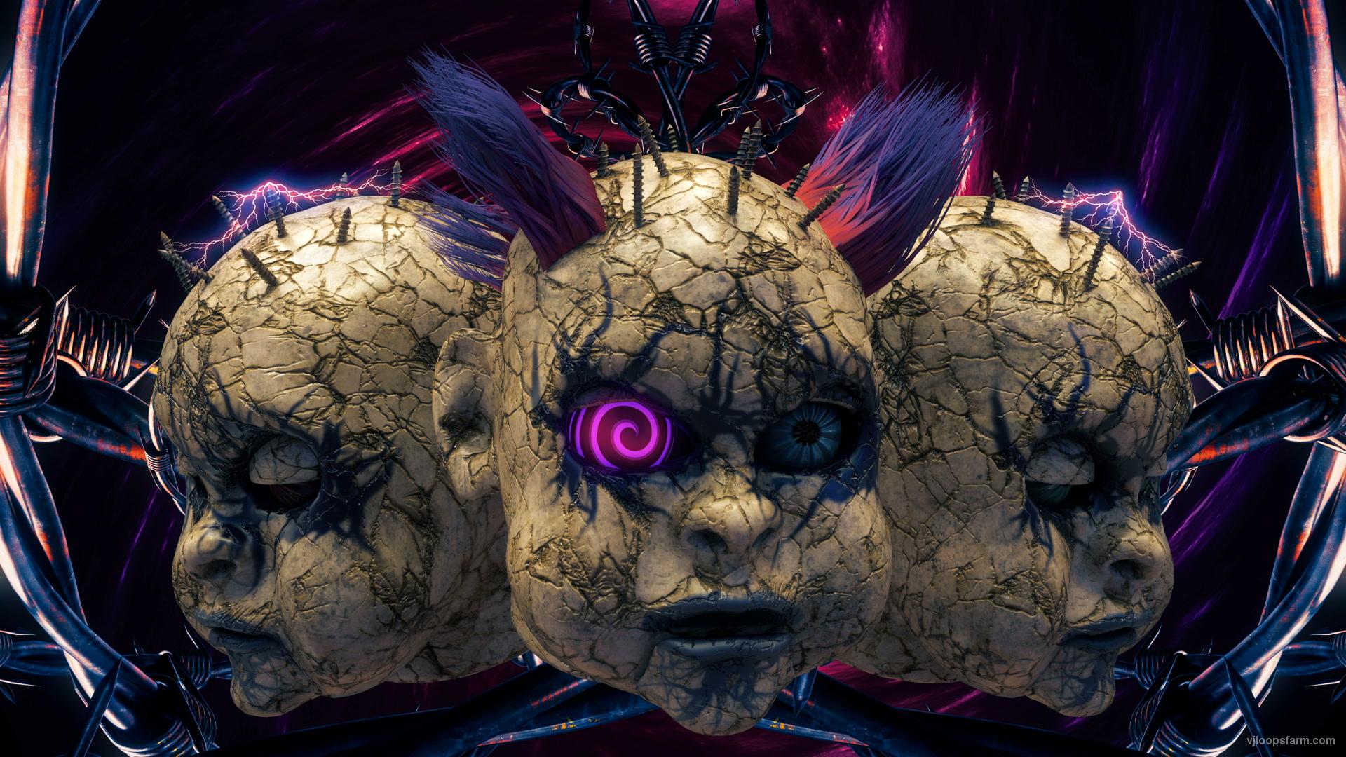 vj video background Doll-Head-Mask-Beats-Visuals-Ultra-HD-VJ-Loop_003