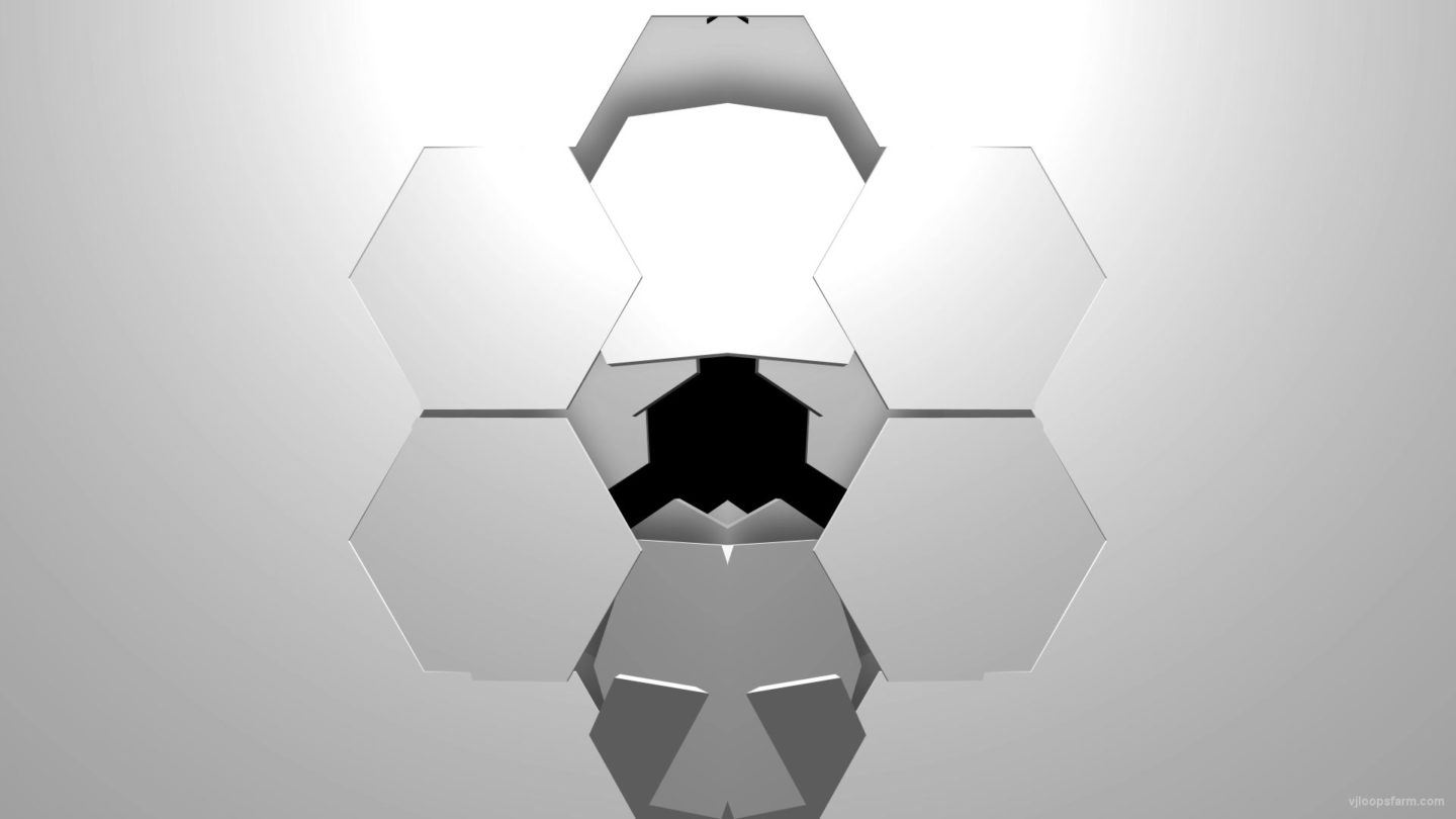 vj video background Falling-Hexagon-Gate-3D-Displace-Effect-Transition-Video-Loop-for-Projection-Mapping_003