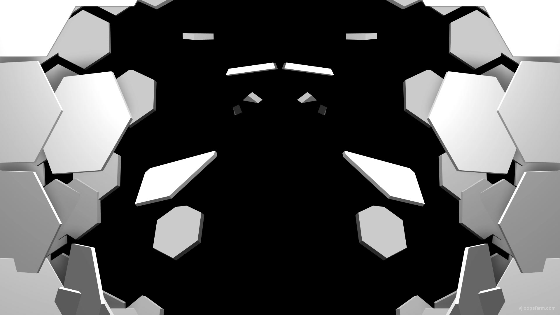 Falling Hexagon Gate 3D Displace Effect Transition Video Loop for  Projection Mapping   Download at VJ Loops Farm