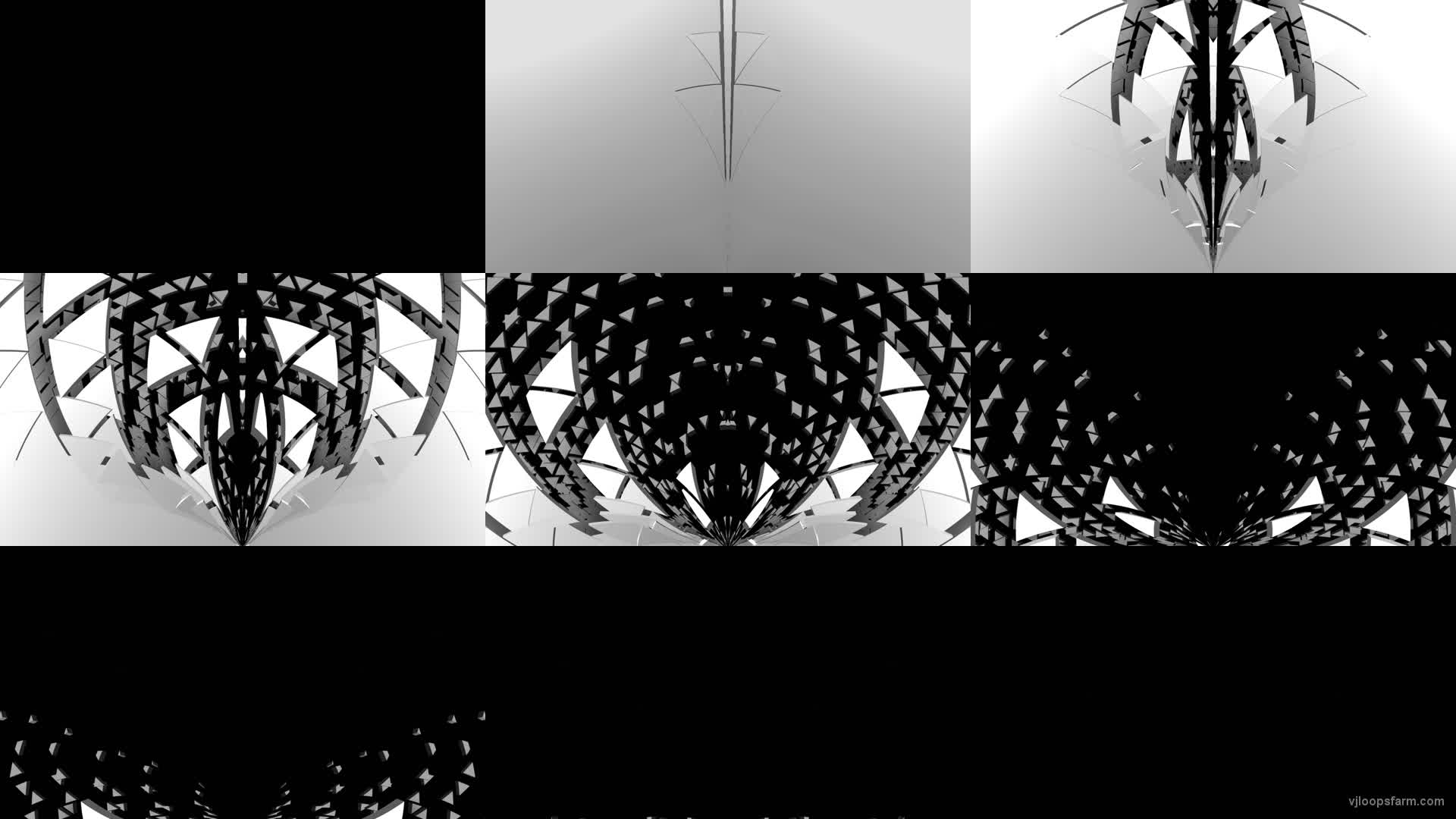 Gate Portal Wings with displace effect video art vj loop transition for 3d  mapping | Download at VJ Loops Farm