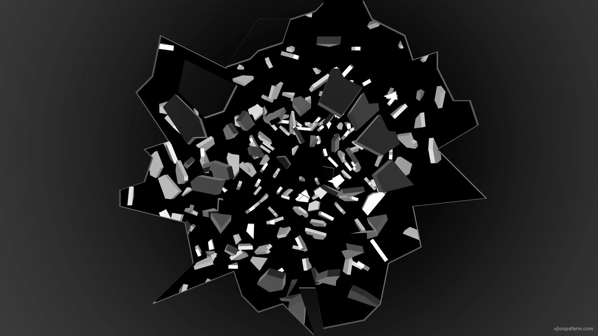 vj video background Shattered-Danger-broken-glass-falling-to-the-deep-space-3D-Video-Transition-VJ-Loop_003