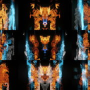 Blue-Fire-Acid-Flame-Gas-Video-Art-VJ-Loop VJ Loops Farm