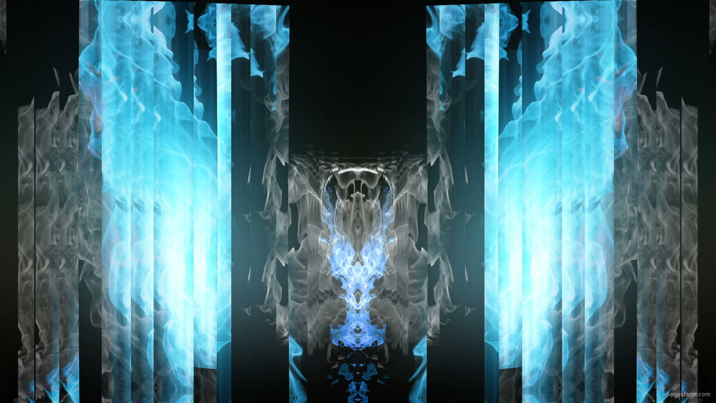 vj video background Blue-Ice-Fire-Gate-Wings-Lighter-Flame-Video-Art-VJ-Loop_003