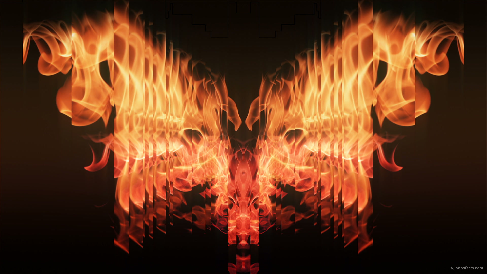 vj video background Eternal-flame-Wings-lights-VA-Video-Art-VJ-Loop_003