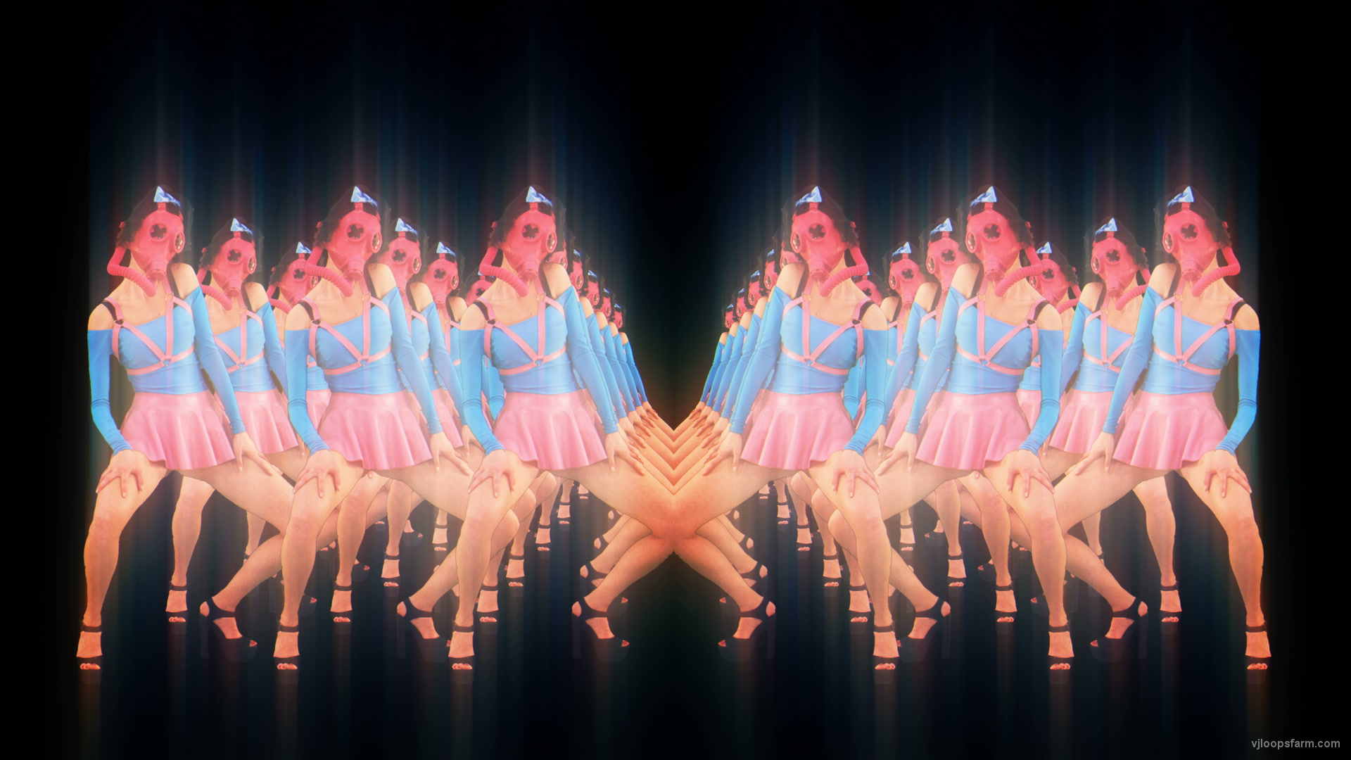 vj video background Fashion-Chernobyl-Go-Go-Dance-Girls-Stock-Footage-Video-Art-VJ-Loop_003