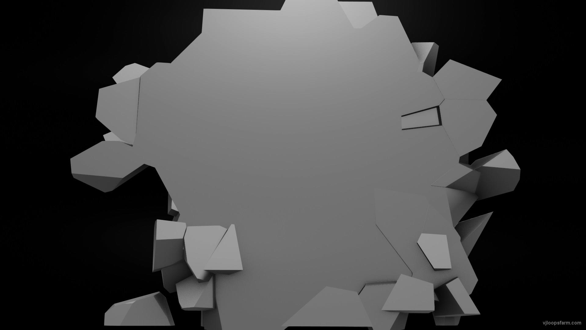 vj video background Rock-Fields-3D-Fragments-Stone-Video-Art-Vj-loop-_003