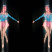 Side-Decor-Chornobyl-Glamour-Girls-marshing-with-glowing-effect-Video-art-vj-loop_008 VJ Loops Farm