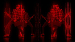 vj video background Fire-Rock-Man-Guitarist-playing-in-neon-red-lines-Video-Art-VJ-Loop_003