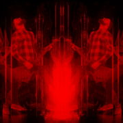 vj video background Fire-Rocker-Man-Playing-guitar-on-Flame-Video-Art-VJ-Loop_003