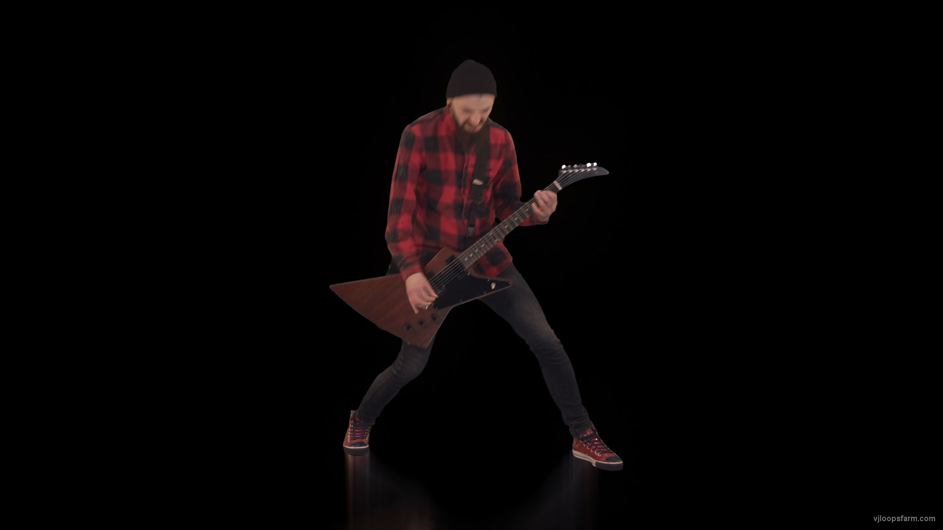 vj video background One-rocking-red-man-plays-guitar-vj-loop_003